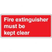 Fire safety sign - Fire Extinguisher Must  034